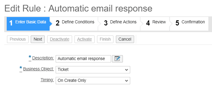 , Automatic email responses for service tickets, Acorel