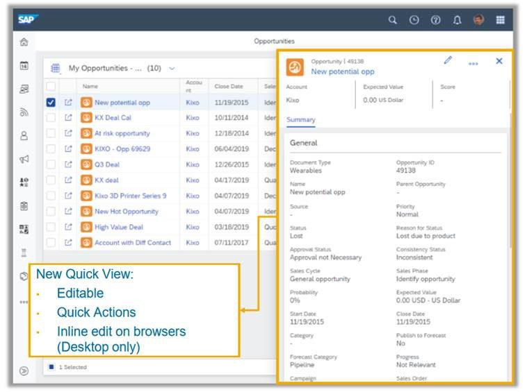 What's new in the 19.08 release for the SAP Sales Cloud and SAP Service Cloud, Acorel