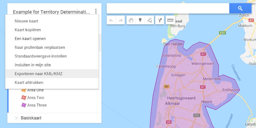 Territory Management using visual area's on google maps - Acorel