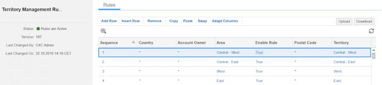 , Territory Management using visual area's on google maps, Acorel