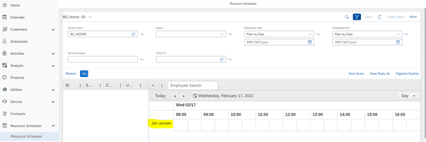 , Tips for setting up the SAP Service Cloud Resource Scheduler, Acorel