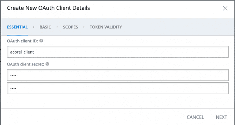 , oAuth client in SAP Commerce, Acorel