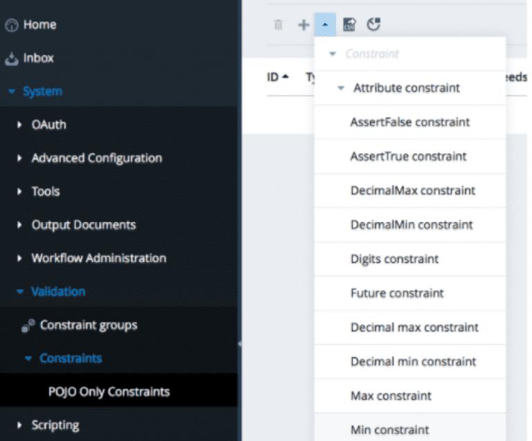 , Using the validation framework in SAP Commerce Backoffice, Acorel