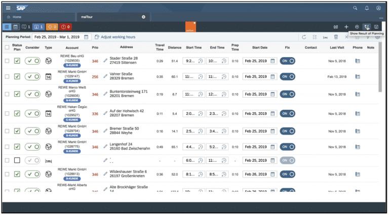 , Optimize your visit route planning in SAP Sales Cloud with maiTour, Acorel