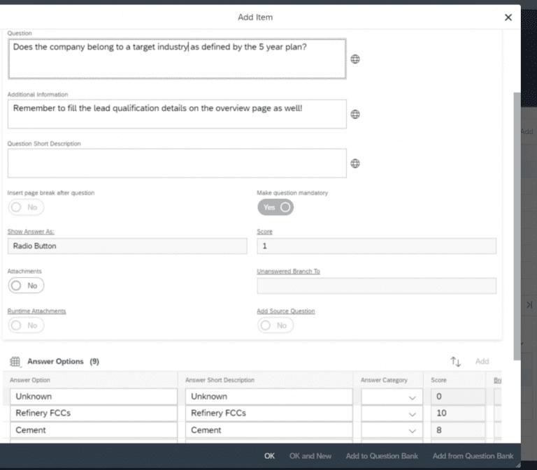 , Maximize sales possibilities and revenue based on survey scoring, Acorel
